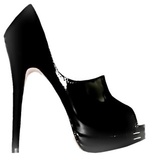 Dolce Vita Patent Leather Peep Toe Black Pumps