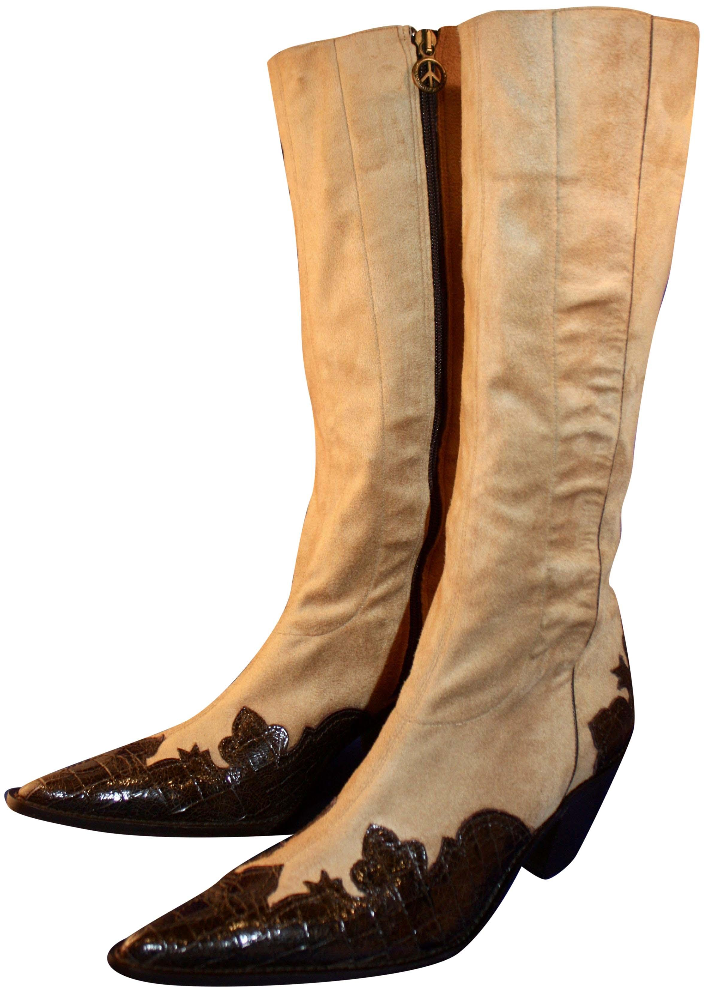 Donald J Pliner Leather Cowboy Boots