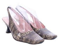 Donald J. Pliner Vintage Couture Snakeskin GRAY Pumps