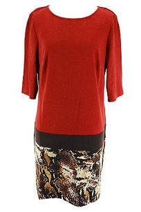 Donna Morgan short dress red Womens Polyester on Tradesy