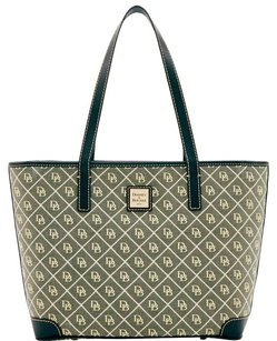 Dooney & Bourke Quilt Charleston & Leather Tote in WHITE/GREY/BLACK