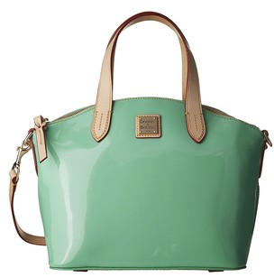 Dooney & Bourke Celery Patent Satchel in Green