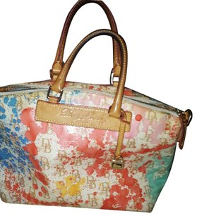 Dooney & Bourke Satchel in Pink, Tan, Blue, Orange