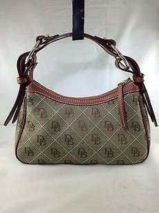 Dooney & Bourke Green Monogram Shoulder Bag