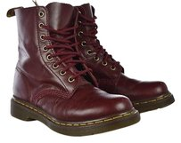 Dr. Martens Womens Burgundy Red Boots