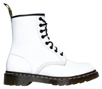 Dr. Martens Lace Up Chunky Heel Classic Platform White Boots