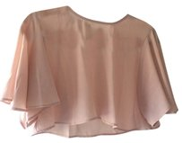 d.RA Crop Pink Flowy Top Blush