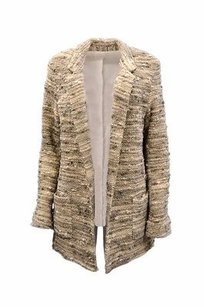 DREW Ferrara Textured Nubby Knit Open Front 220475e Capuccino Jacket