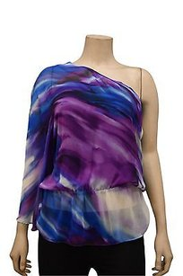 DREW Violetblue One Silk Tube Lining 180281a Bjb Top Purple/Blue/White