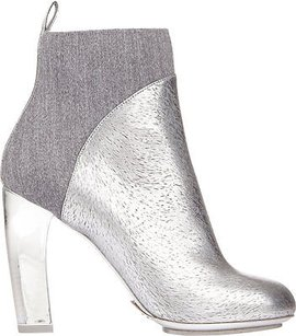 Dries van Noten Metallic Silver Boots
