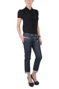DSquared Pat Jean Dark Blue Capri/Cropped Denim