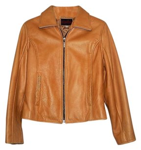 Durango Leather Biker Edgy Classic Tan Leather Jacket