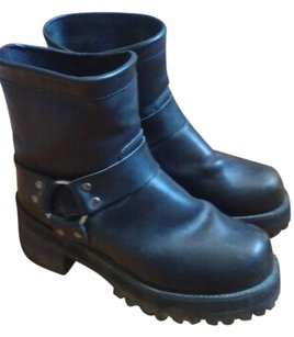 Durango Vintage Leather Moto Black Boots