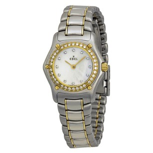 Ebel 1911 Mini White Dial Steel and Yellow Gold Bracelet Ladies Watch