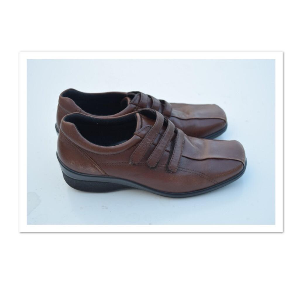 b73b5431f9cf Ecco Brown Brown Brown Leather Vegetable Tanned Flats Size US 7 Regular (M