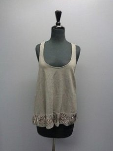 Ecote W Racerback Embellished Sma3051 Top Gray With Hint Of Green