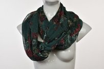 Ecote Ecote Womens Green Floral Infinity Scarf One Casual