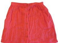 Ecote Urban Outitters Guaze Mini Skirt Orange