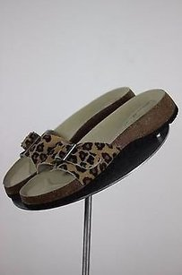 Eddie Bauer Animal Print 6m Leather Open Toe Multi-Color Sandals