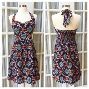 Edme & Esyllte short dress Halter Empire Waist Floral Adjustable A-line on Tradesy