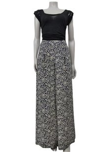 Edme & Esyllte By Anthropologie High Waist Polka Dot Wide Leg Silk Pants