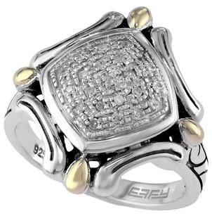 EFFY BALISSIMA BY EFFY 18K GOLD SILVER DIAMOND ACCENT DIMENSIONAL RING