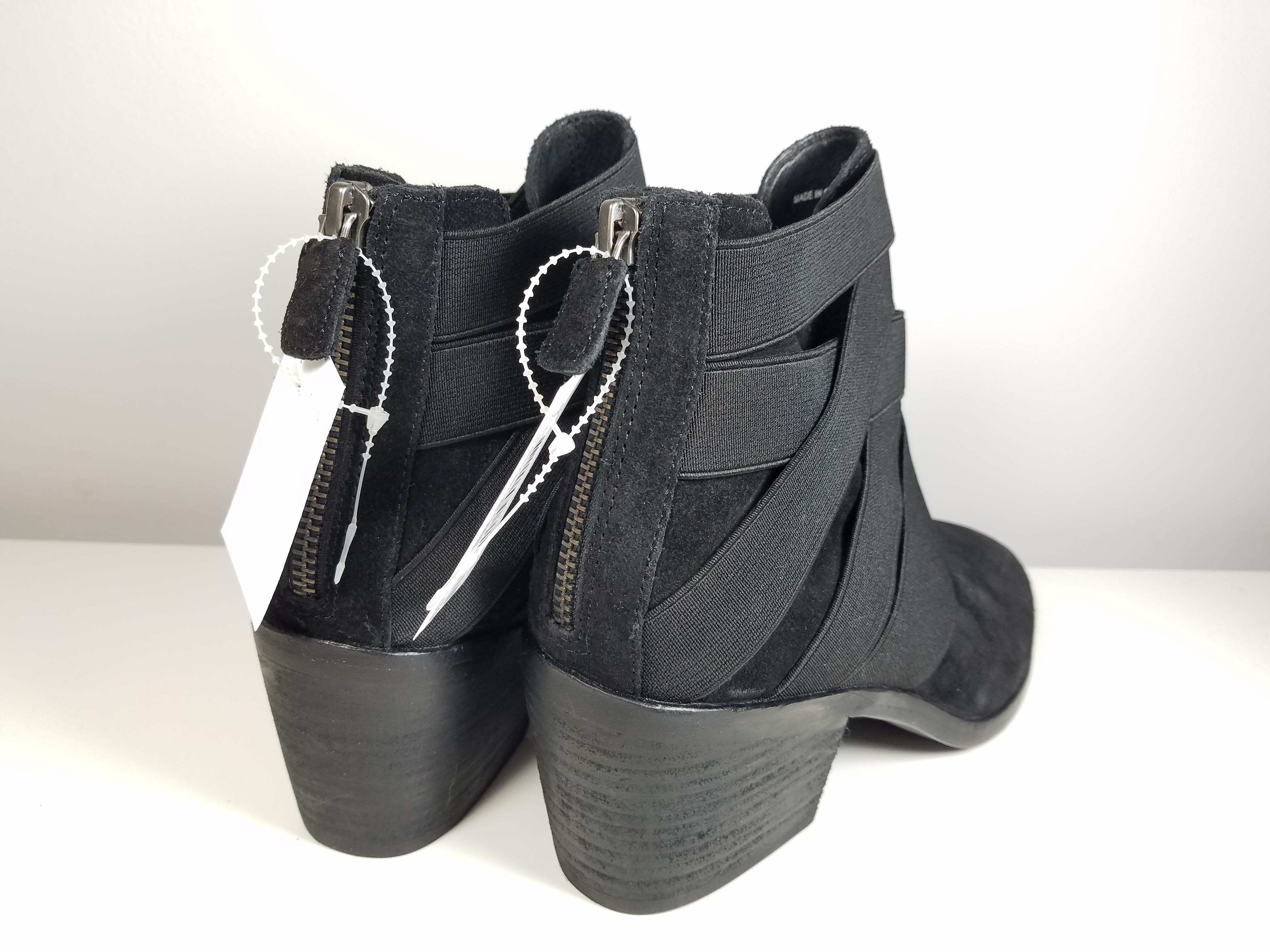 16e5ed605a8f ... Eileen Fisher Black Women s Suede Zip Stretch Belts Ankle Ankle Ankle  Boots Booties Size US ...