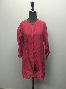 Eileen Fisher 34 Sleeve Front Button Sheer Cardigan 431a Sweater