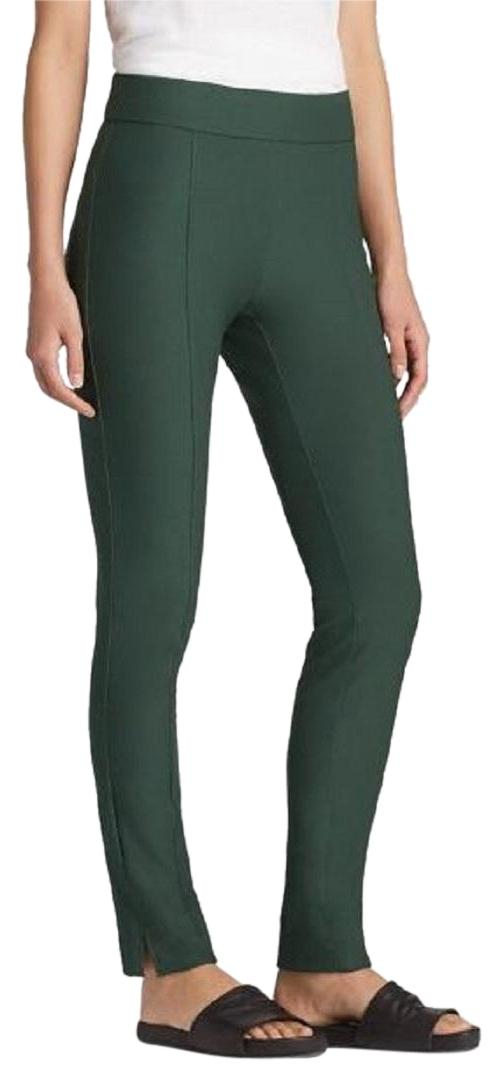 Eileen Fisher Stretch Crepe Slim Leg Seams Skinny Pants Deep Hemlock ...