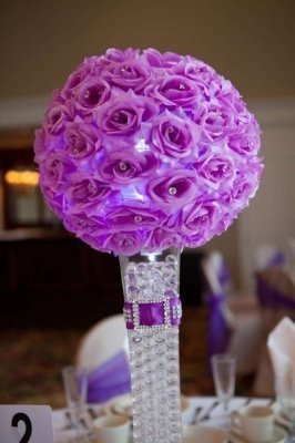 purple wedding decorations purple wedding centerpieces and decorations tradesy 6912