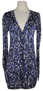 Elie Tahari Womens Printed Cardigan Sweater