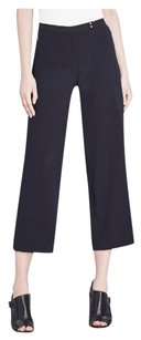 Elie Tahari Carla Cropped Straight-leg Relaxed Pants Navy