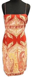 Elie Tahari short dress Orange Cotton on Tradesy