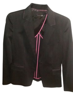 Elie Tahari gray and pink pinstriped Blazer