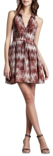 Elizabeth and James short dress Brown Silk Halter Open Embellished Print on Tradesy