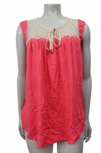 Ella Moss Pink Stella Lace Yoke Tee Top Watermelon