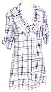Ella Moss short dress Plaid Ruffle Light-weight Shift on Tradesy