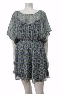 Ella Moss short dress Green Silk Tunic Paisley Print Batwing Sleeves on Tradesy