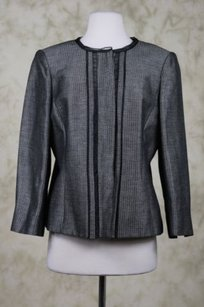 Ellen Tracy Linda Allard Ellen Tracy Womens Black Gray Blazer Cotton Jacket