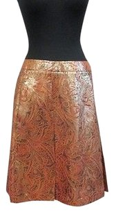 Ellen Tracy Pleated Skirt Multi-Color