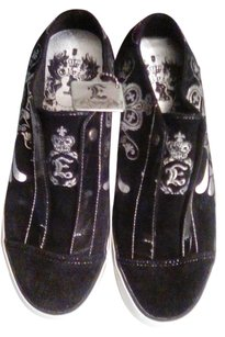 Elvis shoes Black with silver, white soles Athletic