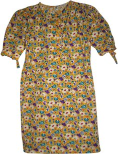 Emanuel Ungaro short dress floral yellow on Tradesy