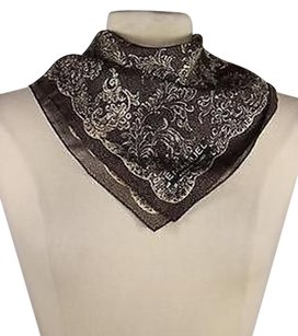Emanuel Ungaro Emauel Ungaro Womens Brown Printed Scarf One 17 X 17 100 Silk
