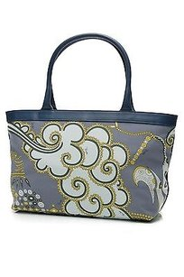 Emilio Pucci Multicolor Print Tote in Blue/Green/Yellow