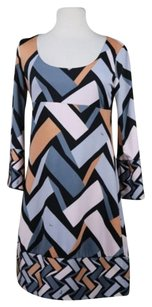 Emilio Pucci Womens Silk Casual 34 Sleeve Above Kne Dress