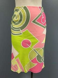 Emilio Pucci Green Pink Skirt Multi-Color