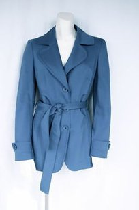 Emilio Pucci Stretch Wool Trench Hs771 Trench Coat