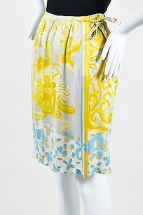 Emilio Pucci Yellow Blue Gray Skirt Multi-Color