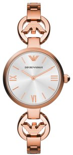 Emporio Armani AR1773 Classic Silver Dial Rose Gold Stainless Women's Watch