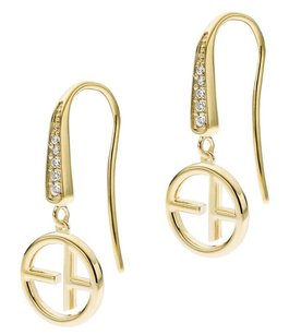 Emporio Armani EMPORIO ARMANI REVEALED IDENTITY LOGO EARRINGS